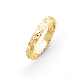 Genuine IceCarats Designer Jewelry Gift 14K Hand Engraved Wedding Band Size 6.00