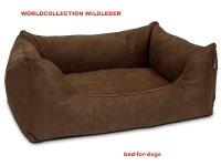 Dogstyle-Worldcollection-Hundebett-aus-Wildlederimitat-Gre-M-90-x-70-cm-Farbe-Braun