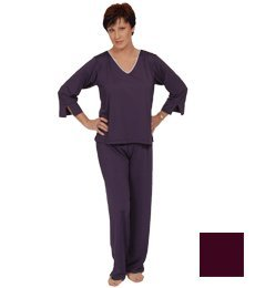 Goodnighties Ionized Sleepwear - Long Pant (Eggplant, Medium) front-673038