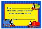 THOMAS Steam Ahead Fill In Thank You Notes - 8 pack - 1