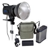 CowboyStudio Mettle 300W/s Dual energy Studio Strobe Light with LED Modeling Lamp & Battery for exterior & Indoor, K-300AD