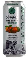 Steaz Green Tea Soda Zero Calorie Iced Teaz Peach Mango -- 16 fl oz