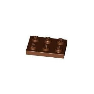 Lego Building Accessories 2 x 3 Reddish Brown Plates, Bulk - 50 Pieces per Package - 1