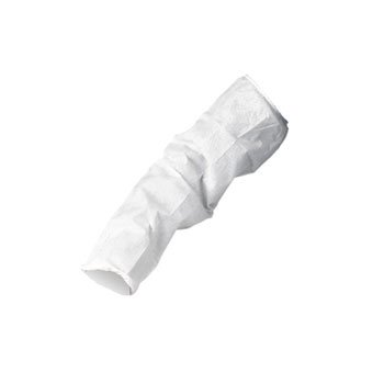 KIMBERLY-CLARK PROFESSIONAL* KLEENGUARD A20 Sleeve Protectors, MICROFORCE Barrier SMS Fabric, White - 200 sleeve protectors.