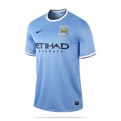 MANCHESTER CITY 2013/2014 Men's SS Home Shirt, L