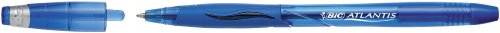 Bic Atlantis - Bolígrafo de tinta gel azul (0.45 mm, 12 unidades)