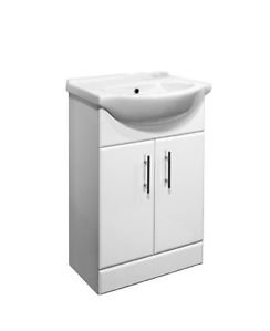 Bathroombarry 550Mm White Gloss Bathroom Unit And Basin With Tap Options   Waterfall Mixer       Customer reviews