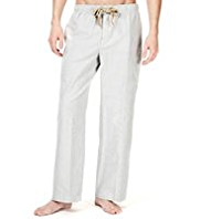 North Coast Pure Cotton Bengal Striped Oxford Pyjama Bottoms