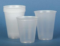 ^Translucent Plastic Cups - Plastic Cups, 7 oz Min.Order is 1 CS ( 25 Bag / Case; 2,500 Each / Case; )