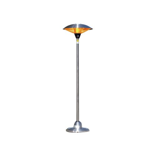 Fire Sense Infrared Indoor/Outdoor Heater With Pole Mount, Stainless Steel