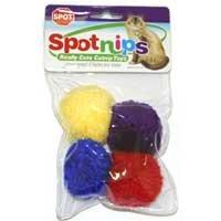 "Spot ""Spotnips"" Wool Pom-Poms with Catnip Cat Toys"