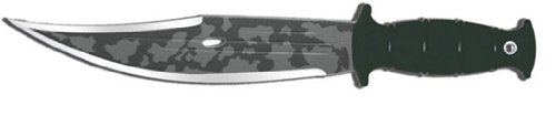 Condor Tool And Knife Jungle Bowie, 11-Inch Mystic Camo, Black Handle, Leather Sheath