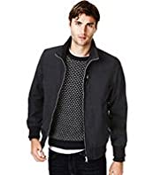 Big & Tall Funnel Neck Zip Through Sport Jacket