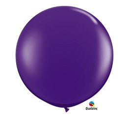 Purple 3' Qualatex Decorative Celebration Party Balloon Three Foot Latex 36""