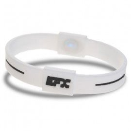 EFX Silicone Sport Bracelet White with Black Text Medium 7 Inch