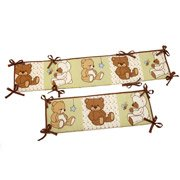 Little Bedding by NoJo Dreamland Teddy Portable Crib Bumper - 1