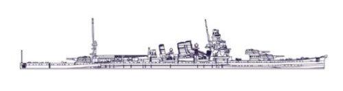日本海軍 重巡洋艦 加古 (1/700スケールプラスチックモデル) 346