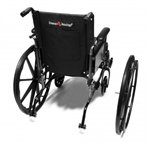 Graham-Field 90763550 Wheel and Black Handrim 24″ x 1″ with Hubcap for Advantage Wheelchair