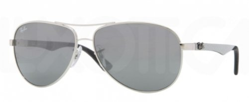 Ray-Ban Rb8313 Sunglasses 003/40-5813 - Silver Frame, Crystal Gray Mirror Rb8313-003-40-58