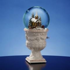 SFMB - Holiday Village Church with Rotating Carriage - Snow Globe Vase at Sears.com