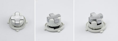 Silver/White Transforming D-Pad For Xbox 360 Controller (Rotating Dpad)