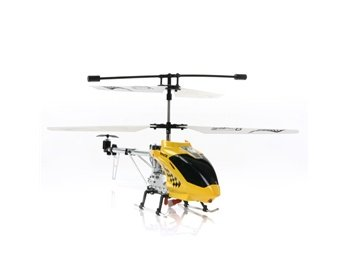 BR6108 3 Channels Metal Alloy Remote Control Coaxial Helicopter (Yellow) + Worldwide free shiping