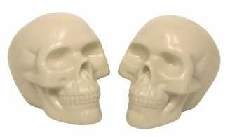 White Skull Salt and Pepper Shakers