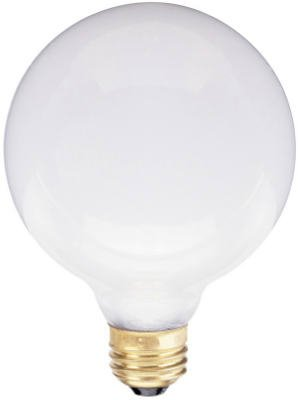 KEYSTORE INTL MCO 70800 Westpointe Inside Globe Light Bulb, 60W, White Finish