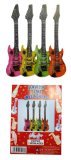 Enlarge toy image: INFLATABLE GUITARS 106cm - ASSORTED COLOURS - school time children learning and fun