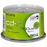 Sony CD-R 700MB CDQ80SPMD-IP - Confezione da 50