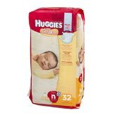Huggies Little Snugglers Diapers, Newborn, 32 Count - 1