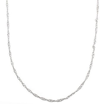 SoMi Prince of Wales Rhodium Rope Chain