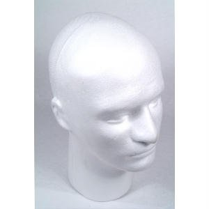 Male Styrofoam Head with Face, 12