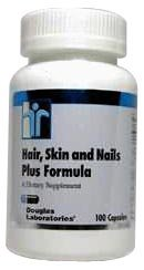 Hair Skin & Nails Plus Formula 100 Capsules by Douglas Labs