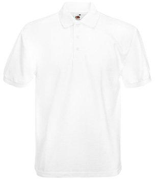 Mens FOTL 65/35 Heavyweight Pique Polo t Shirt-White-Small-FREE SHIPPING