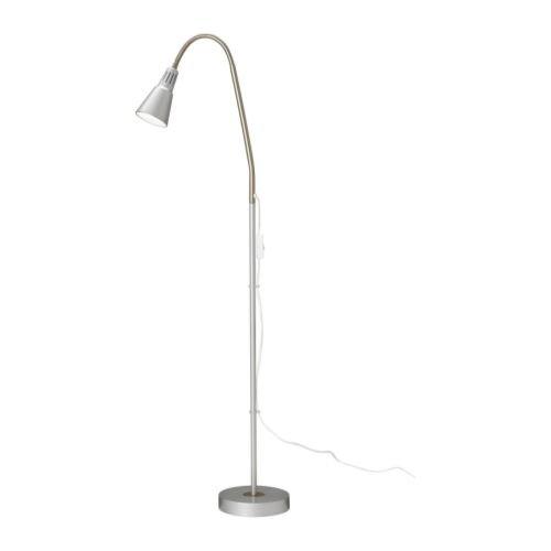 Ikea Kvart Floor Reading Lamp Adjustable Spotlight Silver Color