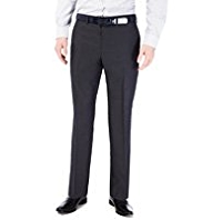 Autograph Flat Front Trousers with Wool