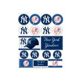 MLB New York Yankees Vinyl Sticker Sheet, 5