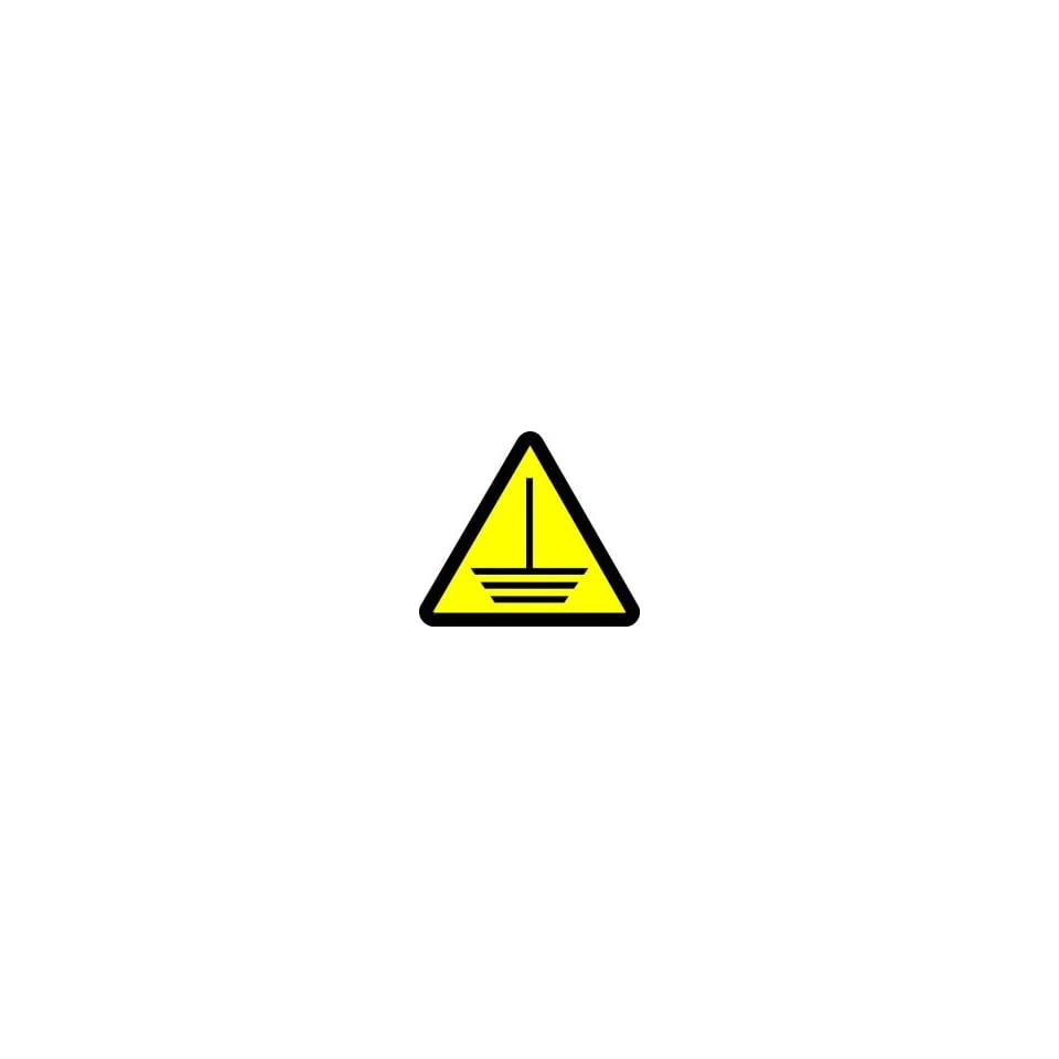 WARNING Labels ELECTRIC GROUND HAZARD 8 Adhesive Dura Vinyl