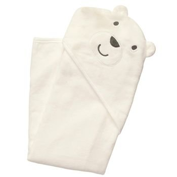 Carter's Baby White Bear Hooded Hoodie Towel