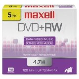 Maxell 4.7GB 4x DVD plus R 5-Pack