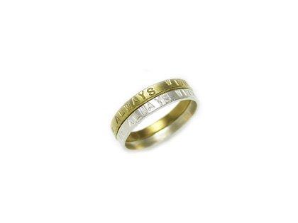 beeaa5dfdc 銀・真鍮・銅の各5種類のリングを組み合わせ2連リングができます。各素材ごとにa~eタイプに分かれ、加工方法が異なります。お客様の自由に選択でき、尚且つすべて  ...