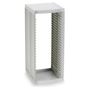 CD Tower, 25 Slot, Off White