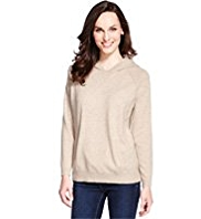 M&S Collection Pure Cashmere Hooded Jumper