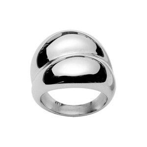 Argent Sterling .925 2 mm Empilable éternité Design Cubique Zircone Pierre Bague Taille 5-10