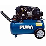 Puma 2-HP 20-Gallon (Belt Drive) Dual-Voltage Cast-Iron Air Compressor - PK5020
