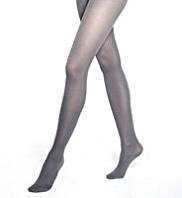 Comfort Waistband Metallic Effect Opaque Tights