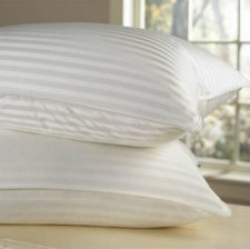 Goose Down Pillow - 1200 Thread Count Egyptian Cotton , Firm, King Size, Set of 2