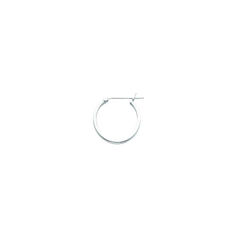 White gold Hoop Earrings Polished Jewelry New G Jewelry
