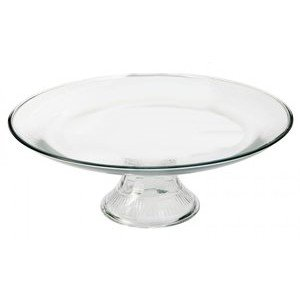 Anchor Hocking Annapolis Cake Plate - Footed - Glass - 13